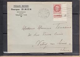 """Lettre De BOURGES Cher Le 21 IV 1942    Entete Pub  """"  MOULIN BATARD  """" Devenue Discotheque  Pour VITRY Sur SEINE SEINE - Advertising"""