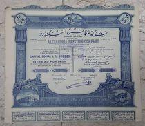 EGYPT - OLD SHARE ALEXANDRIA PRESSING COMPANY  - 25 ACTION - Afrika