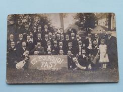 ET POURQUOI PAS ? Anno 1909 ( Zie Foto's ) ! - Personnes Anonymes