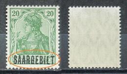 Saargebiet 1920** Mi.Nr.46 Aufdruck Plattenfehler Postfrisch   (R262) - Nuovi