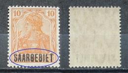 Saargebiet 1920** Mi.Nr.45 Aufdruck Plattenfehler Postfrisch   (R263) - Nuovi