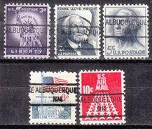 USA Precancel Vorausentwertungen Preo, Locals New Mexico, Albuquerque 841, 5 Diff. - Vereinigte Staaten