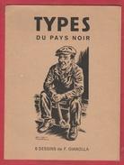 Série De 6 Dessins De François Gianolla Dans La Farde Originale , Illustrant Le Pays Noir - Affiches