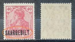 Saargebiet 1920** Mi.Nr.48 Aufdruck Plattenfehler Postfrisch   (R264) - Nuovi
