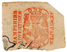 (I.B) QV Revenue : Newspaper Duty 1d (Hampshire Advertiser) - 1840-1901 (Victoria)