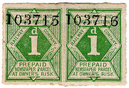 (I.B) London & North Western Railway : Newspaper Parcel 1d - 1840-1901 (Victoria)