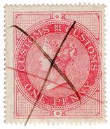 (I.B) QV Revenue : Customs Duty 1d - 1840-1901 (Victoria)