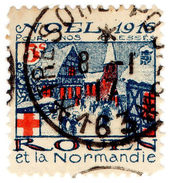 (I.B) France Cinderella : Great War Red Cross Stamp 5c (Rouen & Normandie) - Europe (Other)