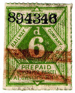 (I.B) London & North Western Railway : Newspaper Parcel 6d - 1840-1901 (Victoria)