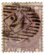 (I.B) QV Postal : 6d Deep Lilac (SG 69) - 1840-1901 (Victoria)