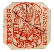 (I.B) QV Revenue : Newspaper Duty 1d (Express Newspaper) - 1840-1901 (Victoria)