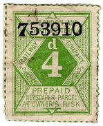 (I.B) London & North Western Railway : Newspaper Parcel 4d - 1840-1901 (Victoria)