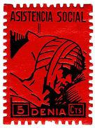 (I.B) Spain Civil War Cinderella : War Charity Stamp 5c (Denia) - Spain