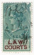 (I.B) QV Revenue : Law Courts (Scotland) 10/- (1882) - 1840-1901 (Victoria)