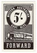 (I.B) Australia - Western Australia Railways : Parcels 5/- - Australia