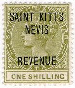 (I.B) St Kitts & Nevis Revenue : Duty 1/- - St.Kitts And Nevis ( 1983-...)