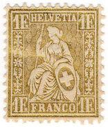 (I.B) Switzerland Postal : 1Fr Gold (SG 60) - Switzerland
