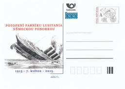 Tschech. Rep. / Ganzsachen (Pre2015/15) Untergang Des Dampfschiffes Lusitania Durch Ein Deutsches U-Boot (1915) - 1. Weltkrieg