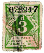 (I.B) London & North Western Railway : Newspaper Parcel 3d - 1840-1901 (Victoria)