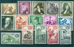 ESPAGNE N° 901 / 910 (GOYA)+ 1242 / 1246 . Tous N Xx Tb. - Colecciones