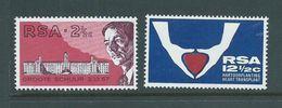 South Africa 1969 Barnard Heart Transplant Set Of 2 MNH - Afrique Du Sud (1961-...)