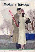 REVUE MODES ET TRAVAUX- 15 FEVRIER 1932- N° 292- EDOUARD BOUCHERIT-BERNARD-LANVIN-JENNY-PATOU-ROUFF-BLEDINE -AVEC PATRON - Mode