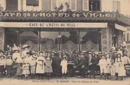 CPA - Aix En Othe - E. Guyot - Café De L'Hôtel De Ville - France
