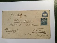 Nicaragua 5c Postal Stationery + Seebeck 1895 Franking > Weimar (cover Lettre Brief Ganzsache Entier Postal - Nicaragua