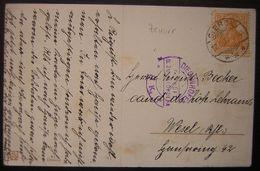 1917 Diedenhofen (Thionville Lorraine) Cachet De Censure Sur Carte (voir Photos) - Postmark Collection (Covers)