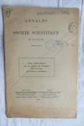 ABBE O PARENT NOTES SUR LES ESPECES DE MACQUART 1926 - Sciences & Technique