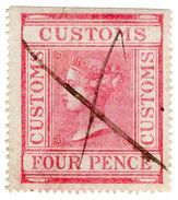 (I.B) QV Revenue : Customs Duty 4d - 1840-1901 (Victoria)