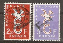 Belgique -1958 - Europa  - Série Complète° 1064/5 - Oblitération Ovale - Cachet T De Surtaxe - Timbres