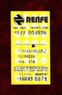 Ferrocarril - España  (año 1983) - Transportation Tickets