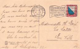 Pro Juventute : No J 16 Sur Carte Postale Oblitérée Chaux-de-Fonds Le 4.I.1921 - Pro Juventute