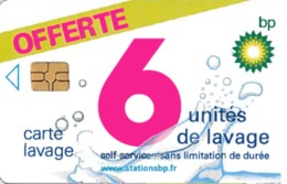 # Carte A Puce Portemonnaie Lavage BP Offerte 6u Gem -tres Bon Etat- - Frankrijk