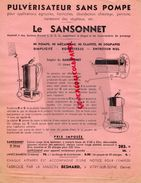 94- VITRY SUR SEINE- PUBLICITE MAISON BESNARD-LE SANSONNET-PUVERISATEUR SANS POMPE-AGRICULTURE HORTICULTURE - Agriculture