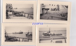 """11  PHOTOS De SIDI ABDALLAH - TUNISIE Prise D'un BATEAU  """" R.H.M. INTRAITABLE """" AVRIL 1958 - CHIEN - BATEAU """" MORGAN """" - Bateaux"""
