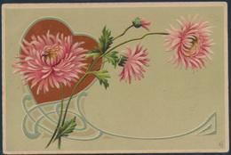 Ansichtskarte Jugendstil Walcourt Nach Muno Belgien Herz Mit Blumen - Ansichtskarten
