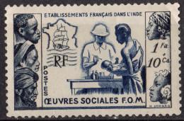 INDE FRANCAISE - Oeuvres Sociales De La France D'Outre-Mer - India (1892-1954)
