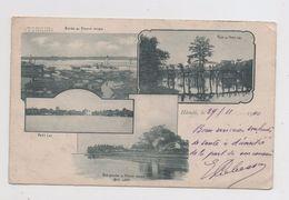 Hanoi. Bords Du Fleuve Rouge. Pont Du Petit Lac. Carte Multivue. - Viêt-Nam