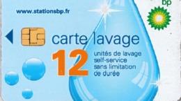 # Carte A Puce Portemonnaie  Lavage BP - Goutte - 12u Puce2? - Tres Bon Etat - - Frankrijk