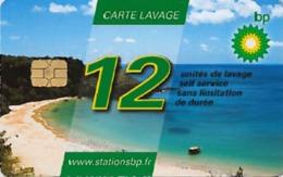 # Carte A Puce Portemonnaie Lavage BP - Plage- 12u - Tres Bon Etat - - Frankrijk