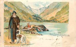SOUVENIR DES PYRENEES - Paysan Des Environs De Cauterets (carte 1900) - Cauterets