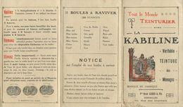 LE MONDE TEINTURIER DE LA KABILINE - Oscar Legris & Fils Versailles, 92 Rue Des Chantiers. - Pubblicitari
