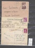 Lettre Cachet Convoyeur   Alés à Lalevade D'Ardèche - 3 Piéces - Poststempel (Briefe)