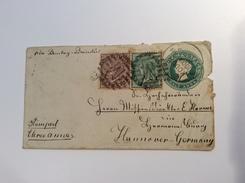 India QV Postal Stationery KODUR CUDDAPAH 1887 (Andhra Pradesh) > Hermannsburg Missionar E. Harms.cover Lettre Brief - India (...-1947)
