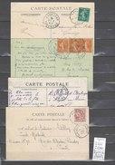Lettre Cachet Convoyeur  Amagne à Bar Le Duc - Hirson - Charleville - Sainte Menehould - 4 Piéces - Marcophilie (Lettres)