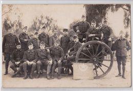 OUJDA - OUDJDA Carte-photo Militaire 1922 4e GACA Groupe D'Artillerie Campagne D'Afrique Troupes Coloniales Maroc Canon - Marokko