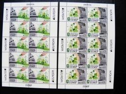 MNH Europa Cept 2 Small Sheetlets From Pridnetrovje Moldova 2016 Bicycle Windmill Butterfly - Moldova