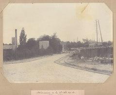 Pierrefitte Sur Seine : La Gare, Juin  1907, Déviation Départementale 13. Quadruplement Ligne De Paris. Photo Originale - Trains